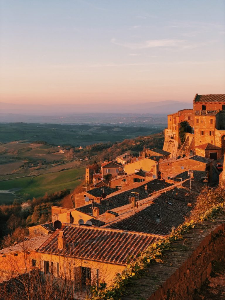 Sunset in Montepulciano, Italy