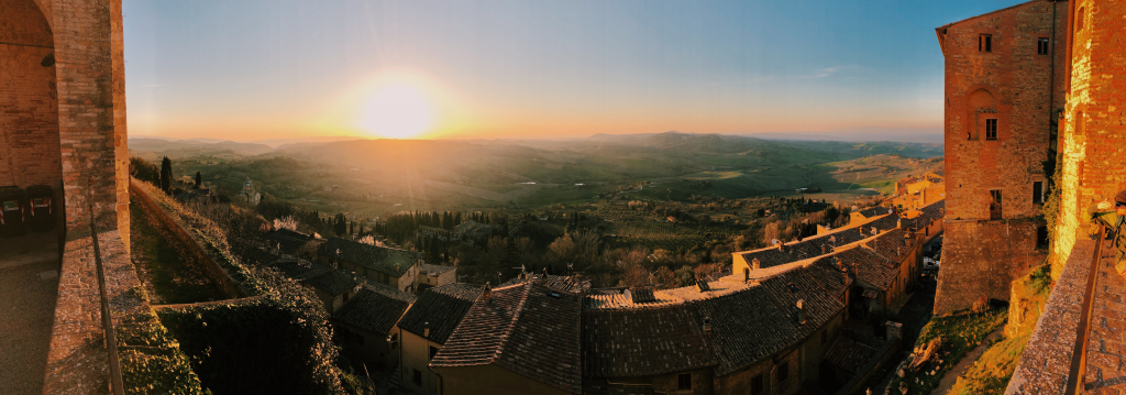 Sunset in Montepulciano